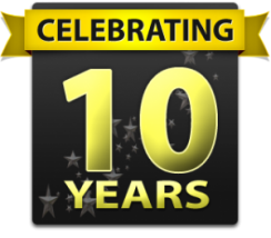 celebrating 10 yeaars of sprinkler repair service in Mesquite TX