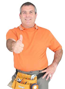 Mesquite sprinkler repair technician gives the thumbs up